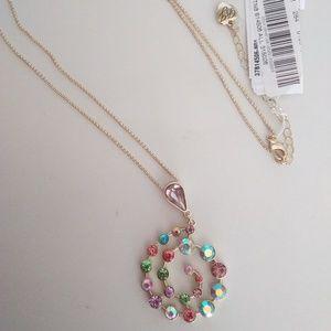Betsey Johnson New Swirly Rhinestone Necklace